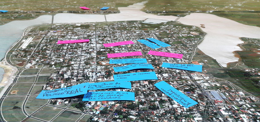 Foto del mapa con propuestas