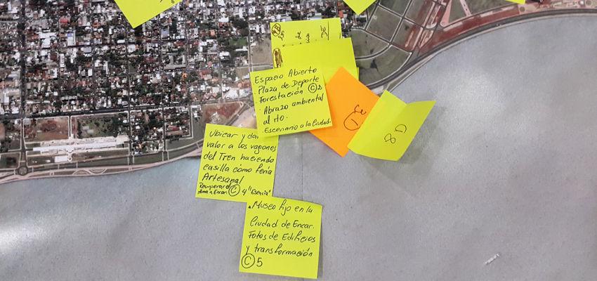 Foto de las propuestas sobre el mapa