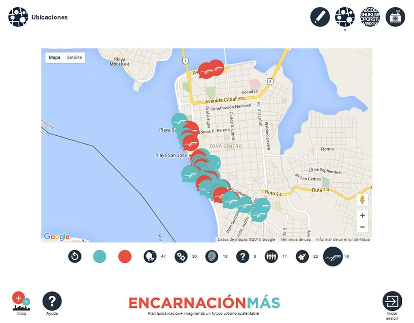 Mapa de propuestas en Encarnación Más Voz